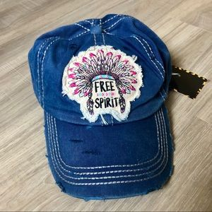 Free Spirit Distressed Denim Dad Hat